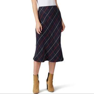 NWOT Club Monaco Plaid Bias Skirt